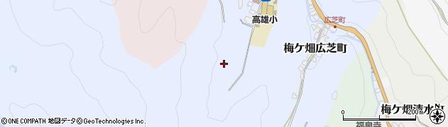 京都府京都市右京区梅ケ畑奥殿町周辺の地図