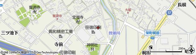 愛知県豊明市栄町(大脇)周辺の地図