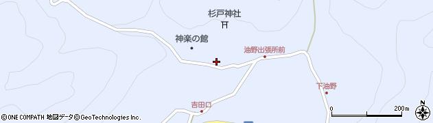 岡山県新見市神郷油野周辺の地図