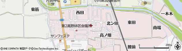 京都府亀岡市千代川町高野林周辺の地図