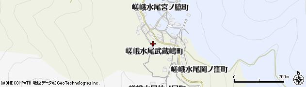 京都府京都市右京区嵯峨水尾武蔵嶋町周辺の地図