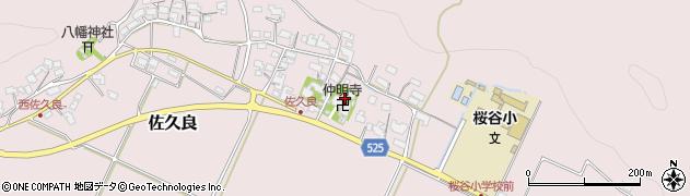 仲明寺周辺の地図