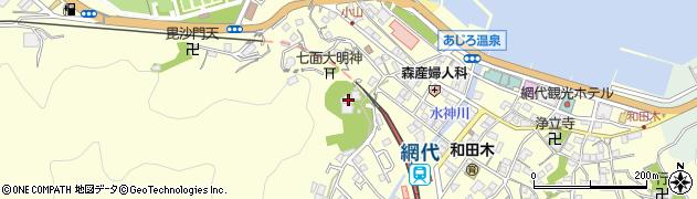 富西寺周辺の地図