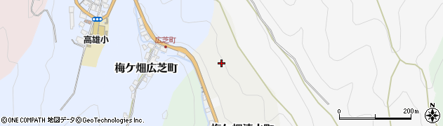 京都府京都市右京区梅ケ畑清水町周辺の地図