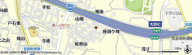 愛知県東海市名和町(濁池)周辺の地図