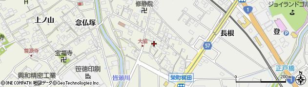 愛知県豊明市栄町(村前)周辺の地図