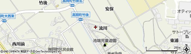 愛知県豊田市高岡町(流川)周辺の地図