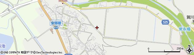 滋賀県日野町(蒲生郡)安部居周辺の地図