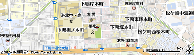 京都府京都市左京区下鴨東梅ノ木町周辺の地図