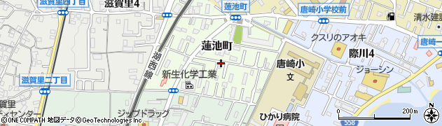 滋賀県大津市蓮池町周辺の地図