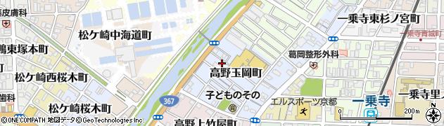 京都府京都市左京区高野玉岡町周辺の地図
