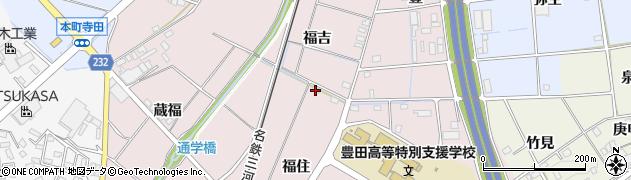 愛知県豊田市竹町(福住)周辺の地図