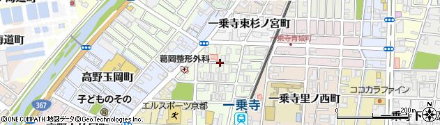 京都府京都市左京区一乗寺北大丸町周辺の地図