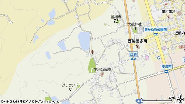 〒679-1134 兵庫県多可郡多可町中区茂利の地図