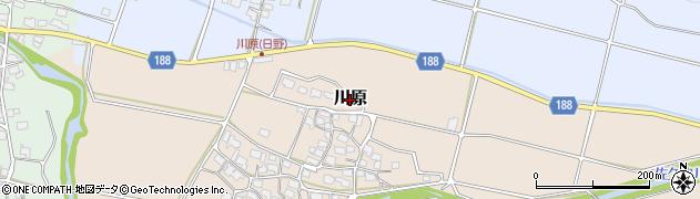 滋賀県日野町(蒲生郡)川原周辺の地図