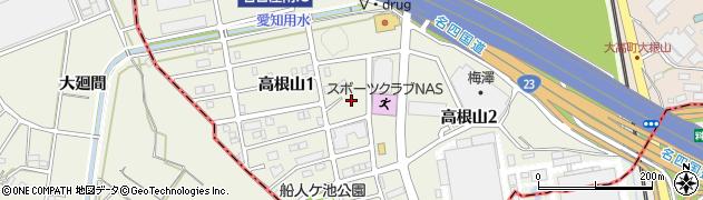 愛知県名古屋市緑区高根山周辺の地図