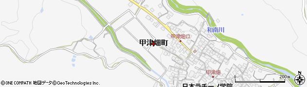 滋賀県東近江市甲津畑町周辺の地図