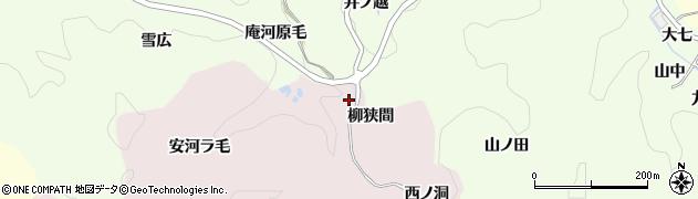 愛知県豊田市桂野町(柳狭間)周辺の地図
