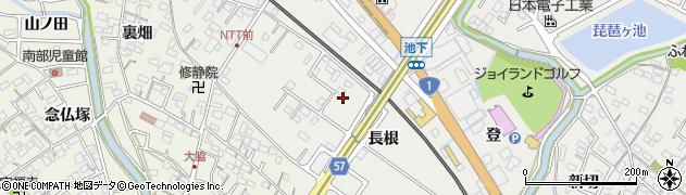 愛知県豊明市阿野町(長根)周辺の地図