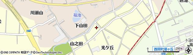 愛知県刈谷市東境町(山之田)周辺の地図