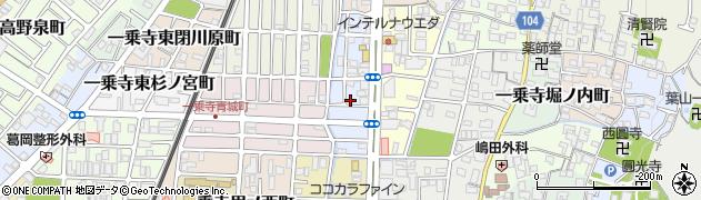 京都府京都市左京区一乗寺清水町周辺の地図