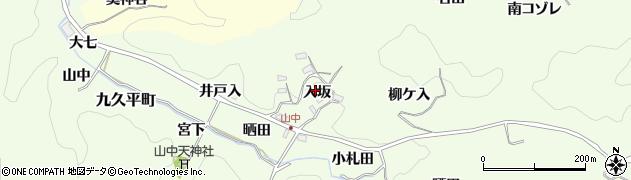 愛知県豊田市九久平町(入坂)周辺の地図
