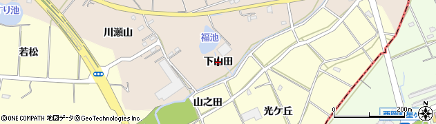 愛知県刈谷市井ケ谷町(下山田)周辺の地図
