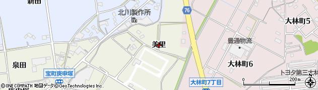 愛知県豊田市宝町(美里)周辺の地図