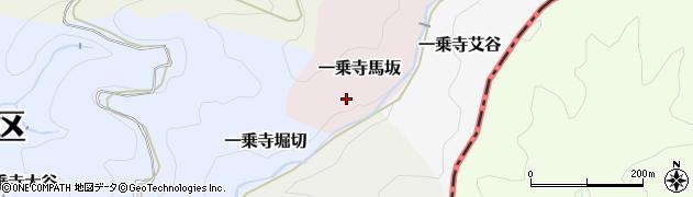 京都府京都市左京区一乗寺馬坂周辺の地図
