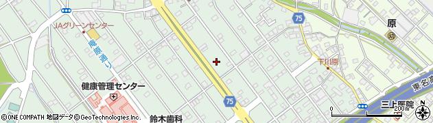静岡県静岡市清水区庵原町周辺の地図