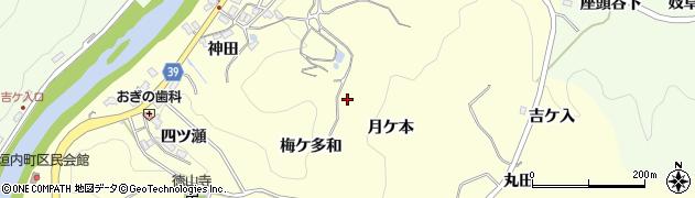 愛知県豊田市中垣内町(月ケ本)周辺の地図