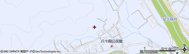 静岡県静岡市葵区足久保口組周辺の地図