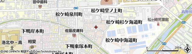 京都府京都市左京区松ケ崎柳井田町周辺の地図