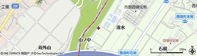愛知県刈谷市西境町(山ノ中)周辺の地図