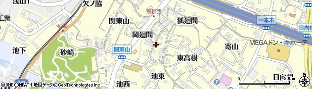 愛知県東海市名和町(西高根)周辺の地図