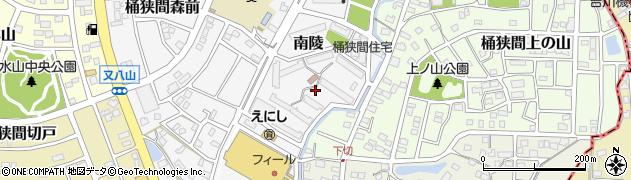 愛知県名古屋市緑区南陵周辺の地図