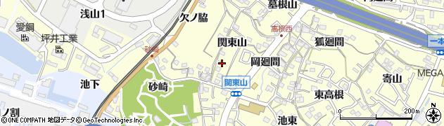 愛知県東海市名和町(関東山)周辺の地図