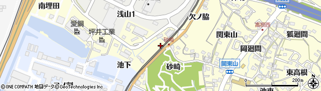 愛知県東海市名和町(砂崎)周辺の地図
