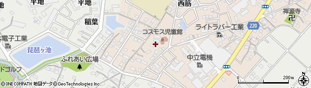 愛知県豊明市新田町(南山)周辺の地図