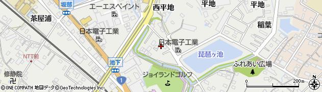 愛知県豊明市阿野町(違井)周辺の地図