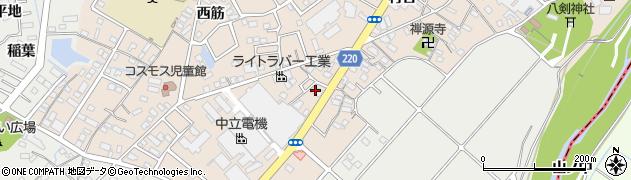 愛知県豊明市新田町(大割)周辺の地図