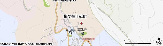 京都府京都市右京区梅ケ畑上砥町周辺の地図
