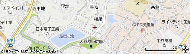 愛知県豊明市阿野町(稲葉)周辺の地図
