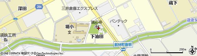 瑞応寺周辺の地図