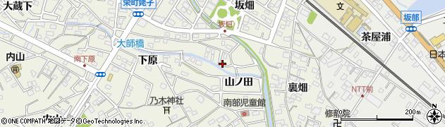 愛知県豊明市栄町(山ノ田)周辺の地図