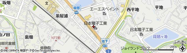 愛知県豊明市阿野町(池下)周辺の地図