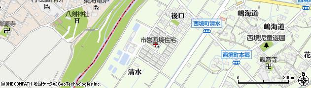 愛知県刈谷市西境町(古井)周辺の地図
