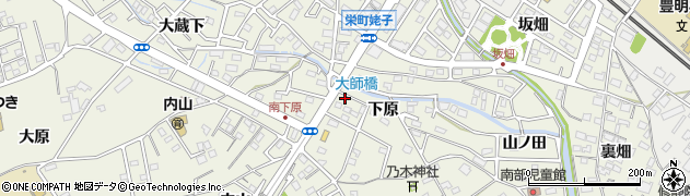 愛知県豊明市栄町(下原)周辺の地図