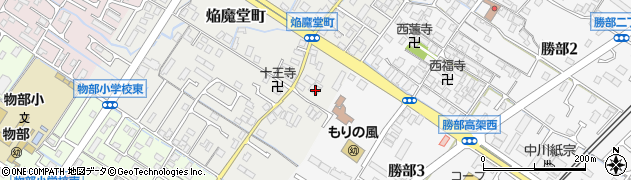 徳栄寺周辺の地図