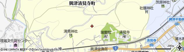 静岡県静岡市清水区興津清見寺町周辺の地図